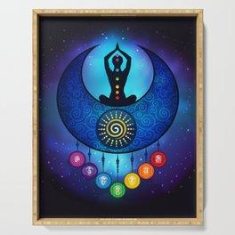 7 Chakra Female Moon & Sun - 59 Universe Serving Tray