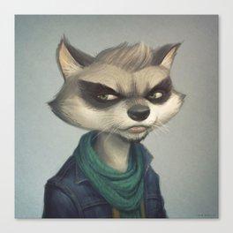 Hipster Raccoon Canvas Print