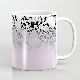 Concrete and Black Marble Mix Pink Gradient Coffee Mug