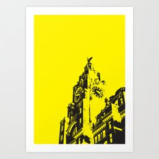 Liver buildings Art Print