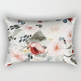 Loose Watercolor Bouquet Rectangular Pillow