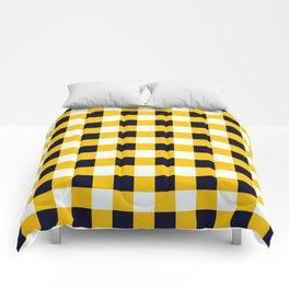 Yellow Chessboard Comforters