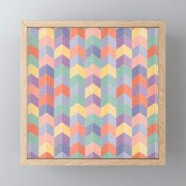 Colorful geometric blocks Framed Mini Art Print