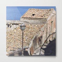 "Old Abandoned Barn of Sicily - ""Vacancy"" zine Metal Print"