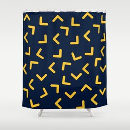 Boomerangs / V pattern Shower Curtain