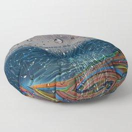 Ocean of Wires-Global Network Floor Pillow