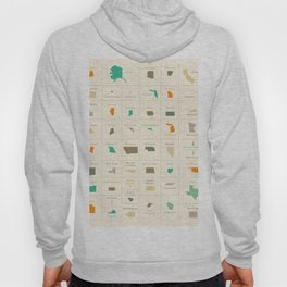 Federal states of the USA overview Hoody