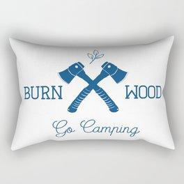 Go Camping Burn Wood Rectangular Pillow