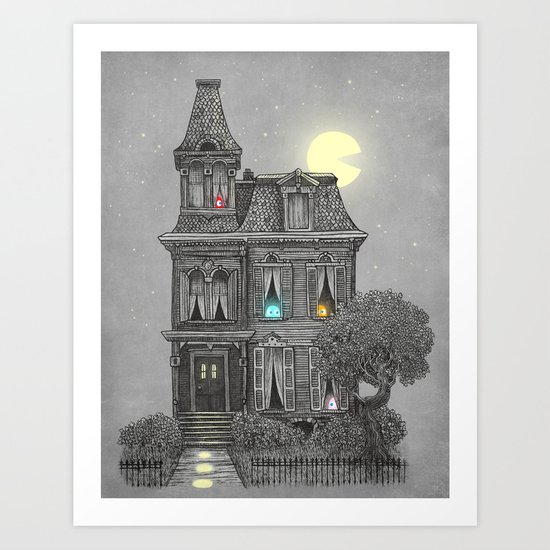 Haunted by the 80's Art Print