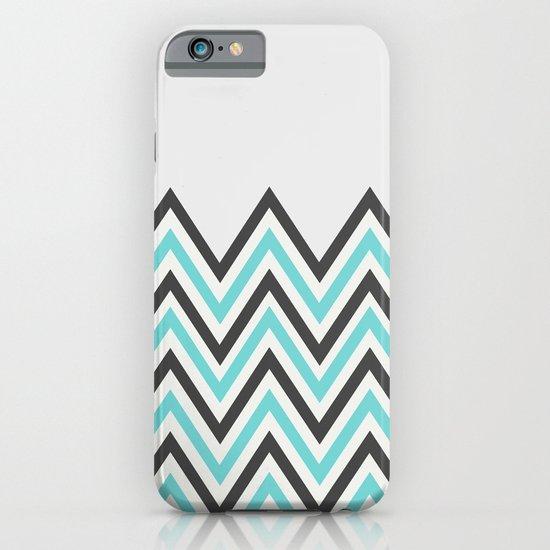 BLUE CHEVRON iPhone & iPod Case