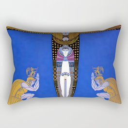 "Art Deco Orientalism ""Cleopatra"" Design Rectangular Pillow"