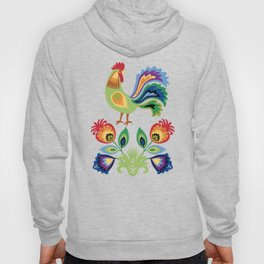 Polish Rooster and flowers Hoody