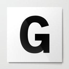 Letter G (Black & White) Metal Print