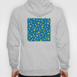 Easter Eggs and Blue Flower Pattern Hoody