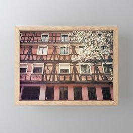 pink facade Framed Mini Art Print
