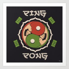 Ping Pong Art Print