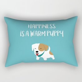 Happiness is a warm puppy Rectangular Pillow