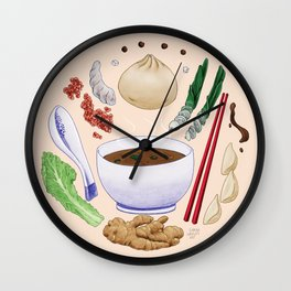 Dumpling Diagram Wall Clock