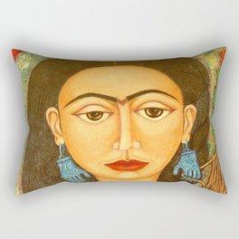 My homage to Frida Rectangular Pillow