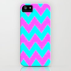 Mint and Pink chevron iPhone (5, 5s) Slim Case