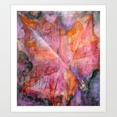 Leaf Rubbing Art Print