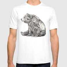Bear // Graphite Mens Fitted Tee White LARGE