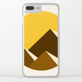 Abstraction_Mountains_YELLOW_001 Clear iPhone Case