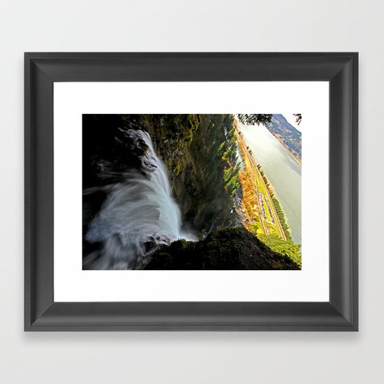 Over the Edge Framed Art Print