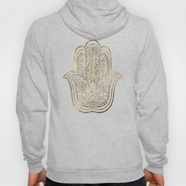 Lotus Gold Hamsa Hand Hoody