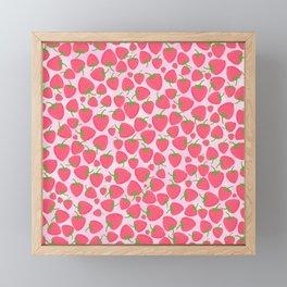 Strawberry Sweet Minis - Pink Framed Mini Art Print