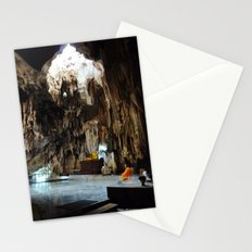 Monk in Cave Temple Stationery Cards
