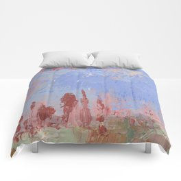 Standing Stone Circle in Pastels Comforters