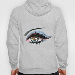 Blue eye with make up Hoody