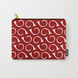 Swirls Red and White Carry-All Pouch