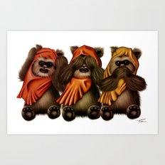 STAR WARS The Three Wise Ewoks Art Print