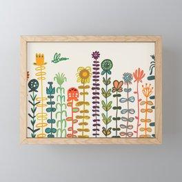 Happy garden Framed Mini Art Print