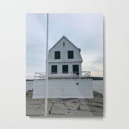 """Rockland Breakwater Lighthouse"" Metal Print"