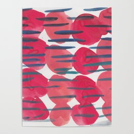 30   | 190408 Red Abstract Watercolour Poster