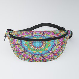 Colorful kaleidoscope flowers Fanny Pack