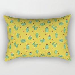 Casual Cacti on Mustard Rectangular Pillow
