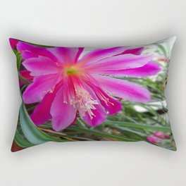 "BLOOMING FUCHSIA PINK "" ORCHID CACTUS"" FLOWER Rectangular Pillow"