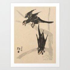 Microraptors Art Print