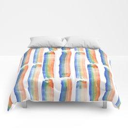 Rainbow Strokes Comforters