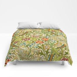William Morris Golden Lily Vintage Pre-Raphaelite Floral Comforters