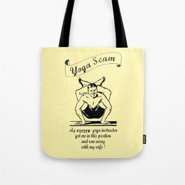 Yoga Scam Tote Bag