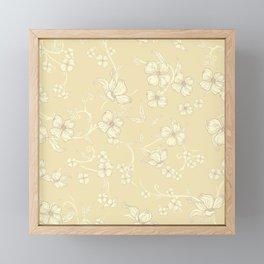 Creepy Flowers Pattern 5 Framed Mini Art Print