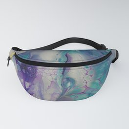 Purple Aqua Bliss - Abstract Acrylic Art by Fluid Nature Fanny Pack