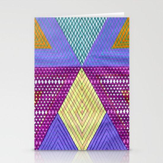 Isometric Harlequin #9 Stationery Cards