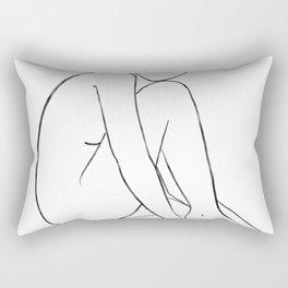 line art 1 Rectangular Pillow