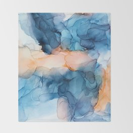 Captivate- Alcohol Ink Painting Throw Blanket